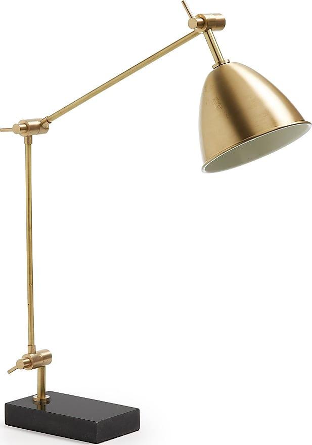 Lampada da tavolo Beery, in Metallo - Nero,Oro