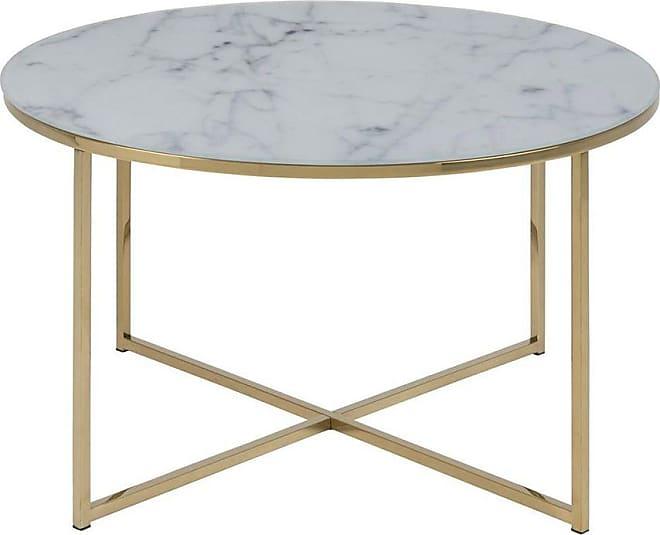 10% EXTRA con il codice BLACK tavolino basso effetto marmo e piedi in metallo, dimensioni: 80 cm, modello: SILAS