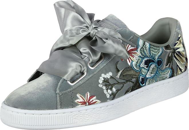 Puma Basket Heart Heyper Sneaker Low Damen Grau Schuhe