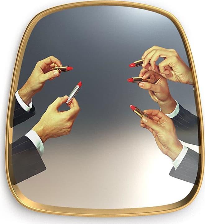 Toiletpaper Small Mirror Gold Frame Lipsticks Specchio piccolo con decoro rossetti