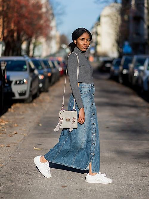 How to wear a denim skirt like an adult   Stylight