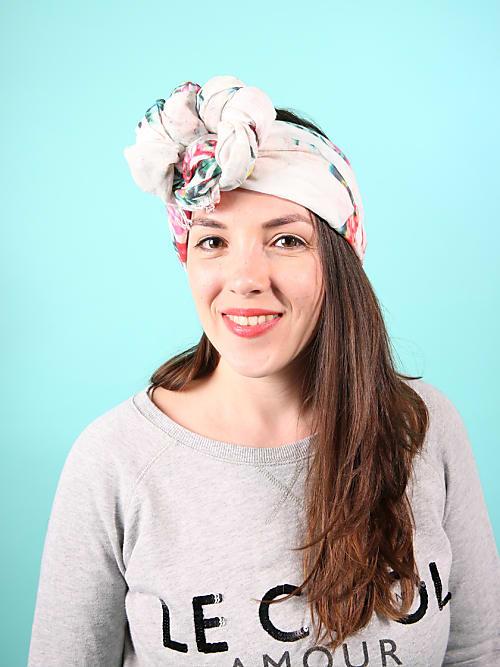 Wählen Sie für späteste Mode bester Lieferant Coole Arten, ein Kopftuch zu binden! 3.Style: der Top Knot ...
