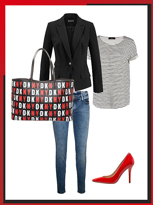 business look mit roten pumps dein b ro outfit f r morgen stylight. Black Bedroom Furniture Sets. Home Design Ideas