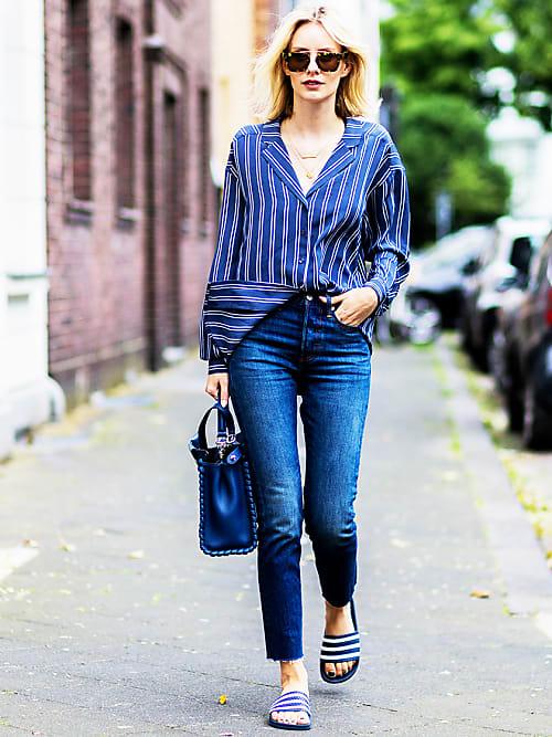 high waist jeans kombinieren styling tipps coole looks stylight. Black Bedroom Furniture Sets. Home Design Ideas