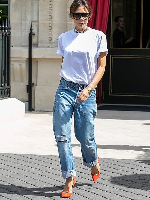 Victoria Beckham trägt den heißesten Jeans-Look der Woche!   Stylight e6242d93e7