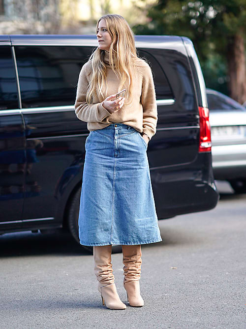 Shoes & Boots to wear with denim skirts