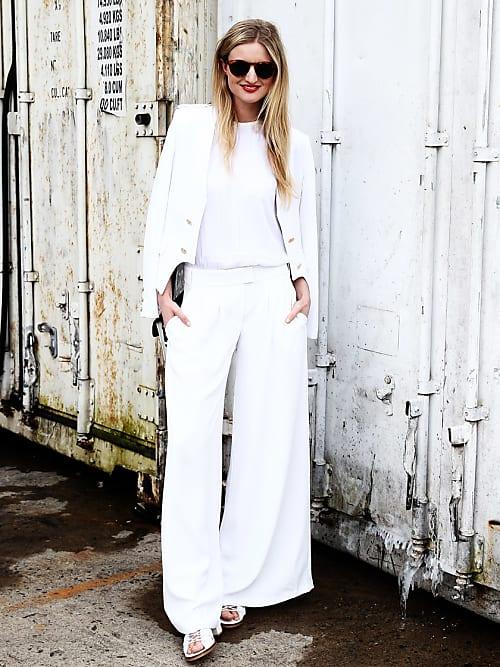 Weiße hose outfit 30 weiße