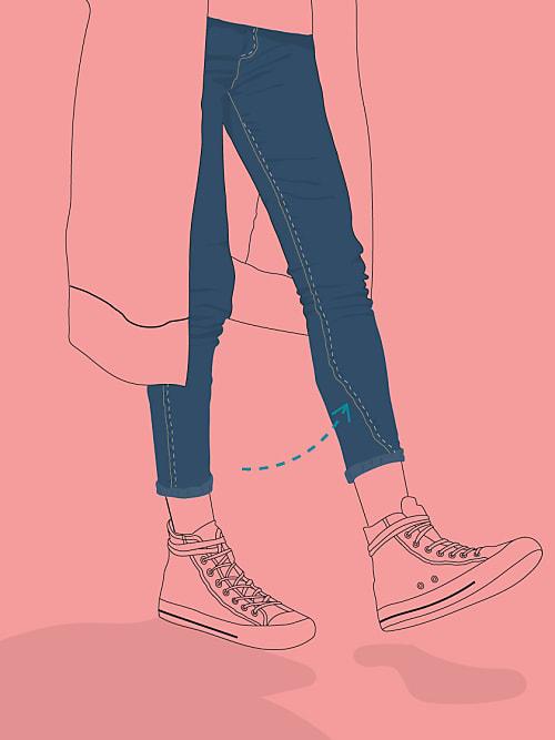 089356d113e70c Nerviges Problem: Ihr kauft eine neue Hose und schon nach dem ersten Mal  Waschen ist die Naht am Bein verdreht.