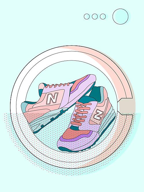 Schuhe waschen in der waschmaschine