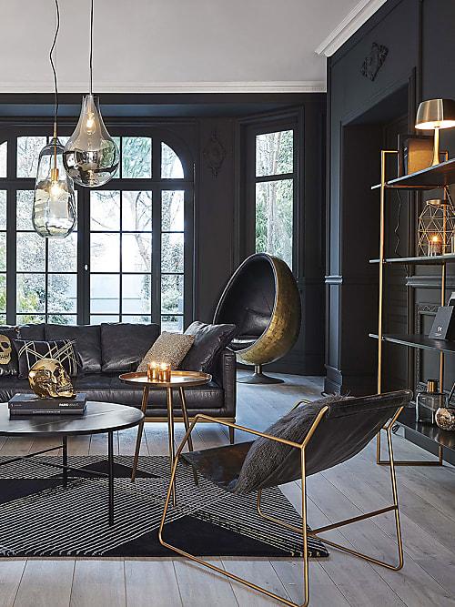 4 astuces pour une décoration d\'intérieur noire réussie ...