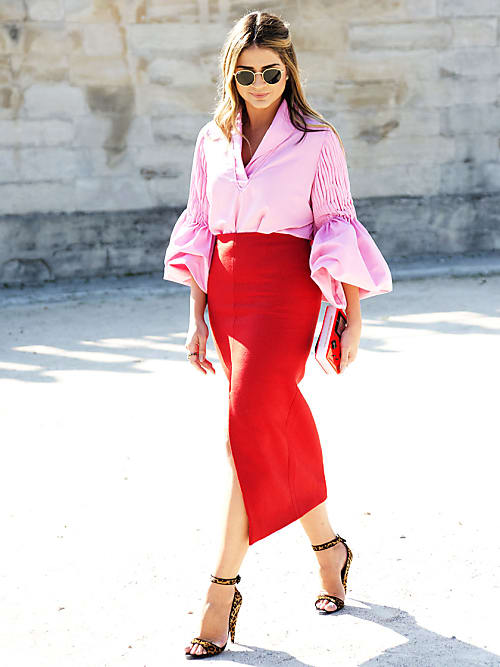 How To Wear Pink Red The Colour Combo That S Having A Moment Stylight