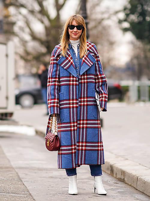 Cappotti a quadri: i modelli check per l'inverno 2018