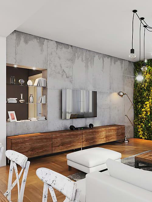 Beton Optik für dein Wohnzimmer | Stylight