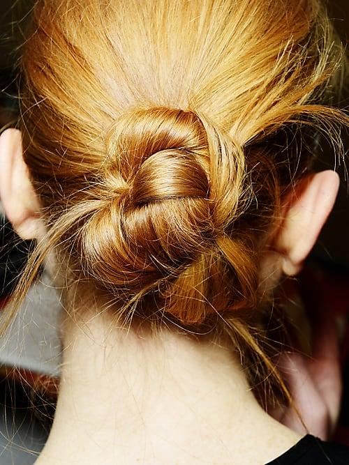 Frisuren knoten im nacken anleitung