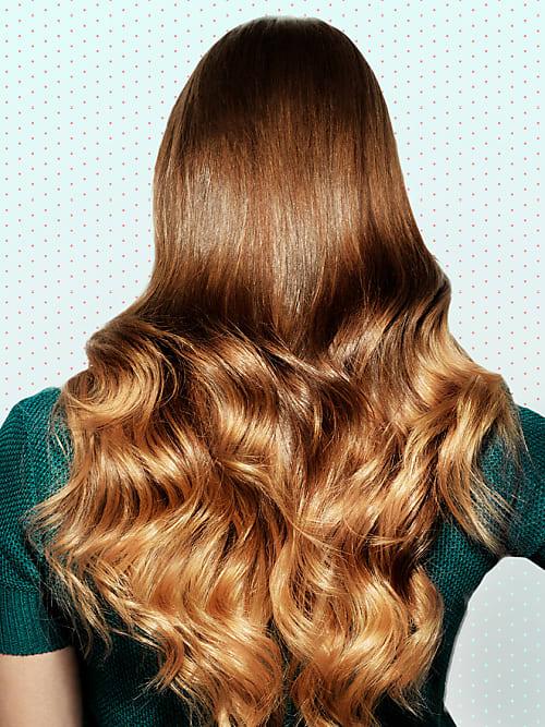 Ausdünnen lange haare Gewelltes Haar