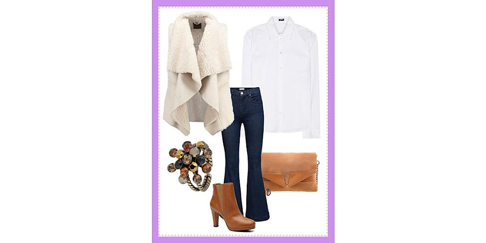 business look mit lammfellweste dein b ro outfit f r heute stylight. Black Bedroom Furniture Sets. Home Design Ideas