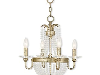 Livex Lighting 51844 Valentina Convertible 4 Light 1 Tier Chandelier