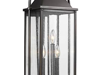 Feiss Wellsworth 22.75 3-Light Outdoor Wall Lantern in Antique Bronze