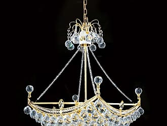 Worldwide Lighting W83025G20 6 Light 1 Tier 20 Gold Chandelier with