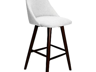 SOUTH CONE Enzo 30 in. Upholstered Bar Stool with Swivel Espresso - ENZOBS30/WAL/ESPRESSO