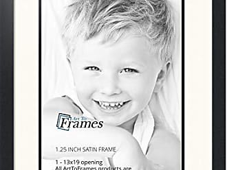 Art to Frames Art to Frames Double-Multimat-648-824/89-FRBW26079 Collage Photo Frame Double Mat with 1 - 13x19 Openings and Satin Black Frame