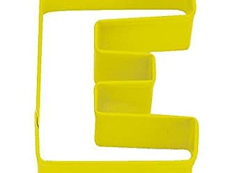 CybrTrayd R&M Durable Cookie Cutter, Monogrammed Letter E, Yellow, Bulk Lot of 12