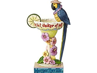Enesco Margaritaville by Jim Shore Parrot on Glass Figurine, 6, Multicolor