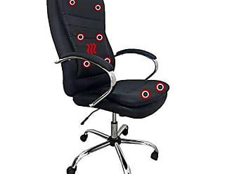 Pelegrin Cadeira Presidente Pelegrin Pel-8128 Dispositivo de Massagem Couro Pu Preta