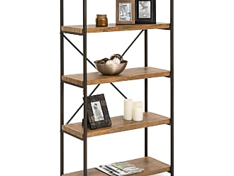 Best Choice Products 4-Tier Industrial Bookshelf w/ Metal Frame, Wood Shelves - Brown