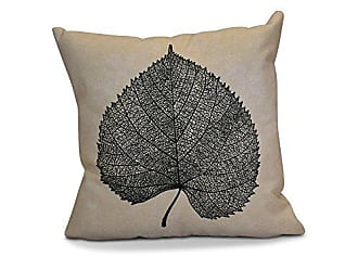 E by Design E by design O5PFN747BK4-16 Printed Outdoor Pillow, 16 x 16, Black
