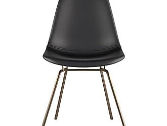 NyeKoncept 331009CL2 Mid Century Classroom Side Chair, Milano Black