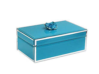 The Jay Companies American Atelier 1280818 Agate Trinket Box, Blue