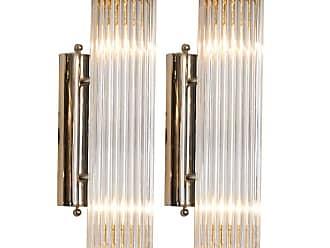 VENINI Pair Of venini Chrome Arm Wall Lights