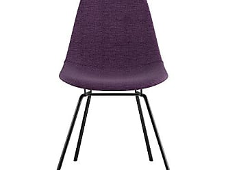 NyeKoncept 331005CL3 Mid Century Classroom Side Chair, Plum Purple