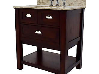 222 Fifth Stenton Rectangular Single Sink Bathroom Vanity with Drop Down Door - 7043BR900B1J12