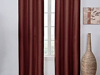 Ellery Homestyles ECLIPSE Blackout Curtains for Bedroom - Madison 42 x 84 Insulated Darkening Single Panel Rod Pocket Window Treatment Living Room, Merlot