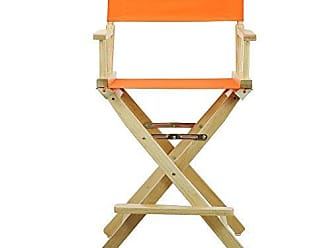 Yu Shan Casual Home 24 Directors Chair Natural Frame with Tangerine Canvas, Counter Height