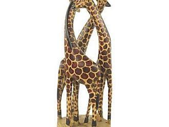 Novica Teakwood sculpture, Giraffe Family