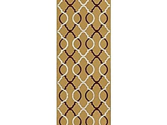 Home City Inc. Superior Cadena Collection Area Rug, 8mm Pile Height with Jute Backing, Chic Geometric Trellis Pattern, Fashionable and Affordable Woven Rugs, 27 x 8 Runner, Gold