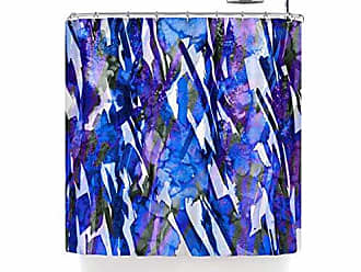 KESS InHouse Ebi Emporium Frosty Bouquet 3 Blue Purple Shower Curtain 69 X 70