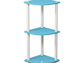 one size Wood Light Blue//White Furinno Toolless Shelves