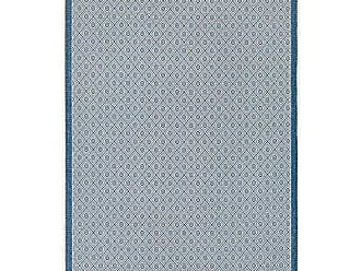 Couristan Monaco Collection Sea Pier Rug, Sand/Azure, 5 by 8-Feet