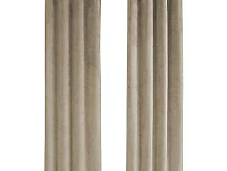 Monarch Specialties I 9820 Curtain Panel Room Darkening, Velvet 84 H Beige