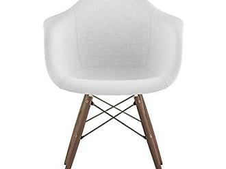 NyeKoncept 332007EW2 Mid Century Dowel Arm Chair, Glacier White
