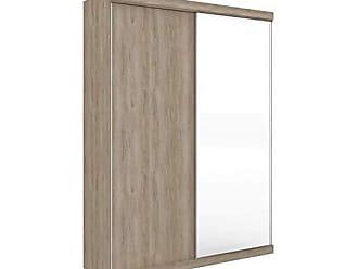 Robel Móveis Guarda Roupa Modulado com Espelho 2 Portas 6 Gavetas 6 Prateleiras 176cm Supreme Robel Cedro Madeirado