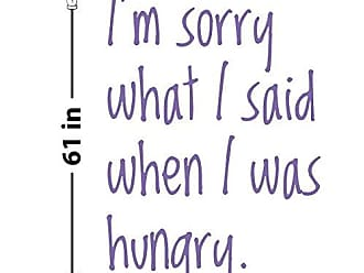 The Decal Guru When I was Hungry Wall Decal (Lavender, 61 (H) X 41.5 (W))