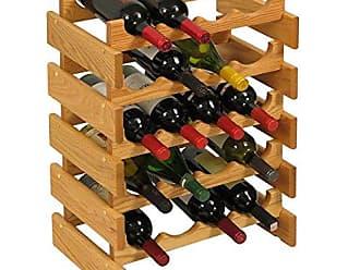 Wooden Mallet 20 Bottle Dakota Wine Rack, Light Oak