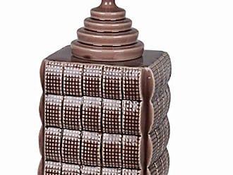 Privilege 45170 Ceramic Jar with Lid, Large, Crackle Purple