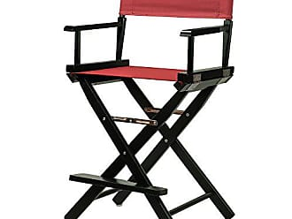 Yu Shan Casual Home 24 Directors Chair Black Frame-with Burgundy Canvas, Counter Height