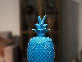 Urban Trends Ceramic Pineapple Figurine LG Gloss Finish Blue Large